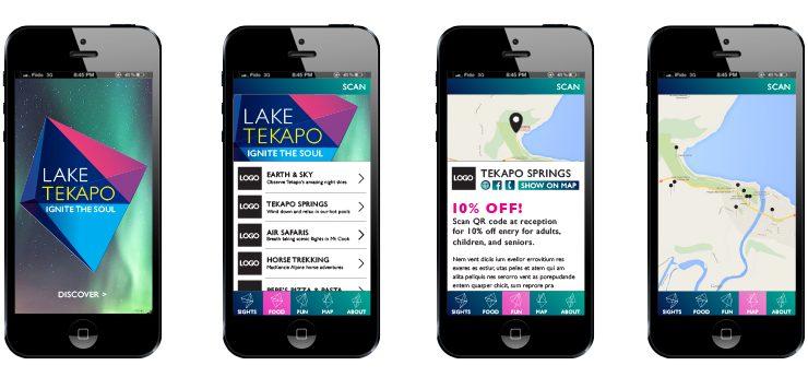 lake tekapo mobile smartphone app application design digital agency creative g&a christchurch
