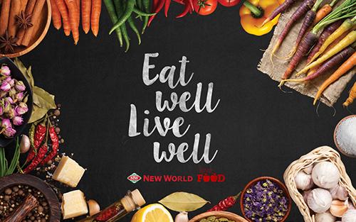 new world eat well live well design agency christchurch branding